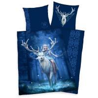 Obliečky Anne Stokes Jelen , Barva - Tmavo modrá , Rozměr textilu - 140x200