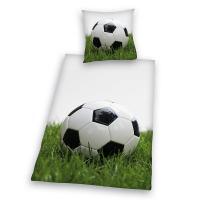 Povlečení Fotbalový míč , Rozměr textilu - 140x200 , Barva - Bielo-zelená