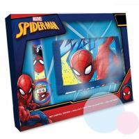 Hodinky a peněženka Spiderman , Barva - Modrá