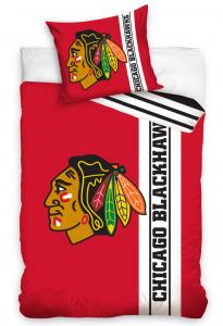 Povlečení NHL Chicago Blackhawks Belt , Barva - Červená , Rozměr textilu - 140x200