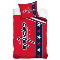 Povlečení  NHL Washington Capitals Belt , Barva - Červená , Rozměr textilu - 140x200