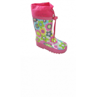 Čižmy kvetinky , Barva - Ružová , Velikost boty - 32