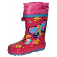 Gumové čižmy Motýľ , Velikost boty - 27 , Barva - Ružová