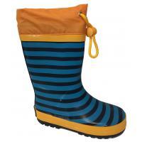 Čižmy pruhované , Velikost boty - 22 , Barva - Modrá