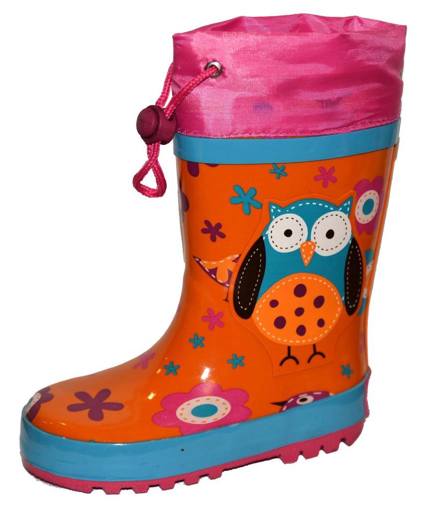 6a00b59fb35c6 detské čižmy sova , Barva - Oranžová , Velikost boty - 27, Pidilidi ...