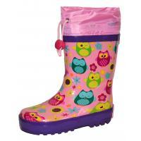 Gumové čižmy Sovička , Velikost boty - 32 , Barva - Ružová