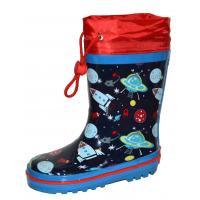 Gumové čižmy Vesmír , Barva - Modrá , Velikost boty - 33