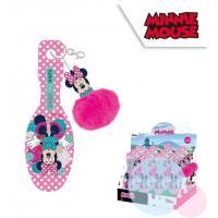 Hřeben na vlasy s přívěškem Minnie , Barva - Ružová