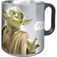 Hrnček Star Wars Yoda ALU , Barva - Šedá , Velikost lahve - 400 ml