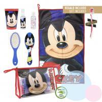 Hygienická taštička Mickey 6-dílná , Barva - Modrá