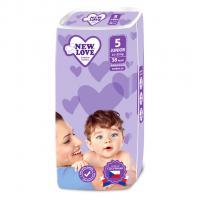Jednorázové pleny New Love JUNIOR 11-25 kg , Barva - Biela