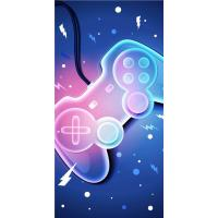 Osuška Player game , Barva - Modrá , Rozměr textilu - 70x140