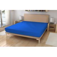 Jersey prestieradlo EXKLUSIVE  , Rozměr textilu - 180x200 , Barva - Modrá