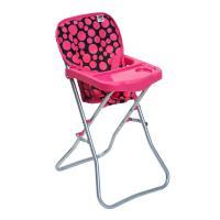 Jídelní židlička pro panenky PlayTo Dorotka , Barva - Ružová