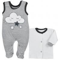 Kabátek a dupačky Koala Cute Cloud , Velikost - 74 , Barva - Šedá