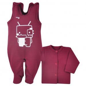 Kabátek a dupačky Koala Robot , Barva - Vínová , Velikost - 68