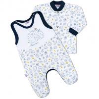 Kabátik a dupačky New Baby Hedgehog , Barva - Bielo-modrá , Velikost - 62