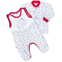Kabátik a dupačky New Baby Hedgehog , Barva - Červená , Velikost - 56