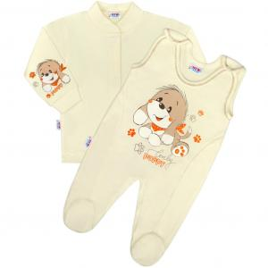 Kabátik a dupačky New Baby Psík , Barva - Béžová , Velikost - 50