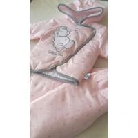 Kabátik a nohavice Hrošík , Velikost - 56 , Barva - Svetlo ružová