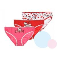 Nohavičky Hello Kitty 3ks , Barva - Červeno-bílá , Velikost - 122/128
