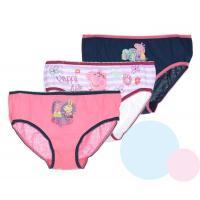 Kalhotky Peppa Pig 3ks , Barva - Modro-růžová , Velikost - 122/128