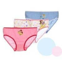 Kalhotky Princezny 3ks , Barva - Modro-růžová , Velikost - 122/128