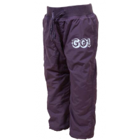 Nohavice s fleecovou podšívkou , Barva - Tmavo fialová , Velikost - 128