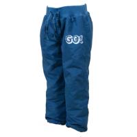 Nohavice s fleecovou podšívkou , Barva - Modrá , Velikost - 86