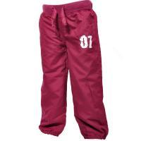 Nohavice s podšívkou , Barva - Vínová , Velikost - 104