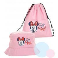 Klobúčik a vrecúško Minnie , Velikost čepice - 50 , Barva - Ružová