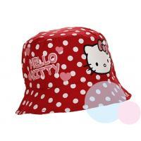 Klobúčik Hello Kitty , Barva - Červená , Velikost čepice - 50