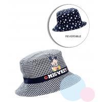 Klobouček Mickey - oboustranný , Barva - Tmavo modrá , Velikost čepice - 48