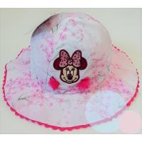 Klobúčik Minnie , Velikost čepice - 48 , Barva - Ružovo-biela