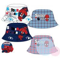 Klobúčik Spiderman - obojstranný , Velikost čepice - 52 , Barva - Tmavo modrá