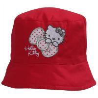Klobúk Hello Kitty , Velikost čepice - 50 , Barva - Červená