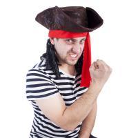 Klobúk pirát s vlasmi , Barva - Hnedá