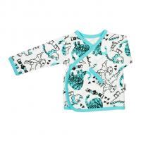 Košilka Nicol Dinosaur , Velikost - 56 , Barva - Tyrkysová