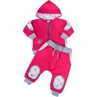 Dojčenská súpravička New Baby Mašlička , Barva - Malinová , Velikost - 56