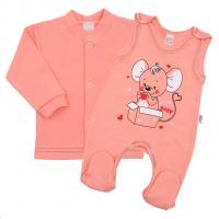Kabátek a dupačky New Baby Mouse , Velikost - 56 , Barva - Ružová