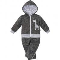 Dojčenská zimná súpravička New Baby Žirafa , Barva - Šedá , Velikost - 56
