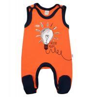 Dupačky New Baby Happy Bulbs , Velikost - 56 , Barva - Oranžová
