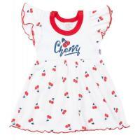 Šatičky New Baby Cherry , Velikost - 56 , Barva - Bielo-červená