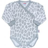 Dojčenské body celorozopínací New Baby Žirafa , Velikost - 62 , Barva - Biela
