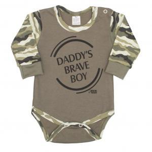 Body New Baby Army boy , Velikost - 62 , Barva - Zelená