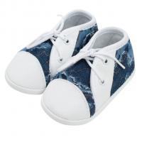 Capáčky tenisky New Baby , Velikost - 62 , Barva - Bielo-modrá