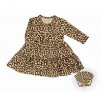 Šaty Nicol Mia , Velikost - 56 , Barva - Hnedá
