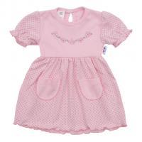 Šaty New Baby Summer dress , Velikost - 62 , Barva - Ružová
