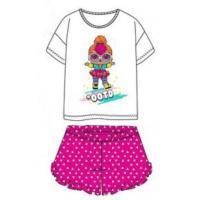 Tričko a kraťasy LOL Surprise , Velikost - 110 , Barva - Bílo-růžová
