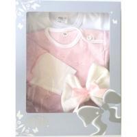 Komplet pre bábätká Mašľa , Barva - Ružová , Velikost - 80